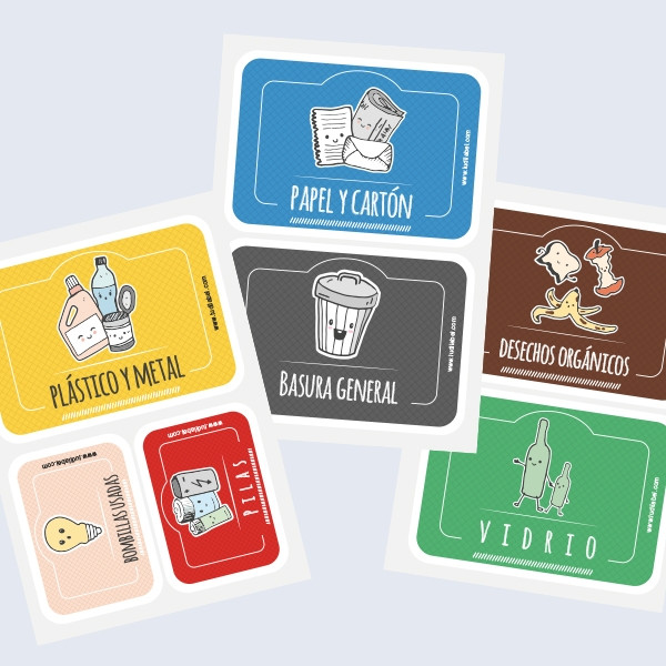 Etiquetas adhesivas para el Reciclaje