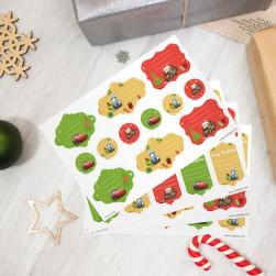 Etiquetas regalos de Navidad - Cars