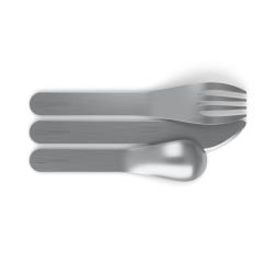 Kit de cubiertos de acero inoxidable - MB Pocket gris Coton