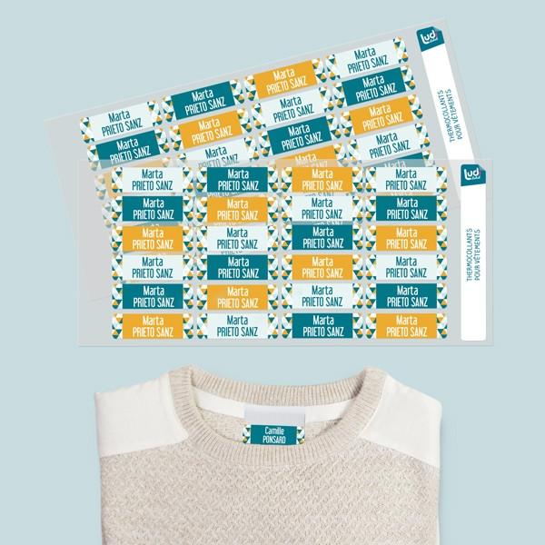 Etiquetas termoadhesivas para ropa