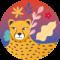 Jungle Vibes (24 etiquetas redondas)