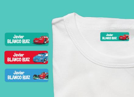 Etiquetas termoadhesivas ropa Cars