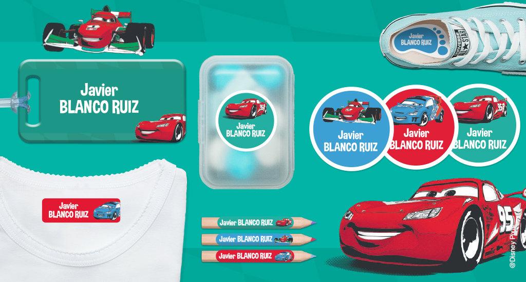 Etiquetas personalizadas Cars
