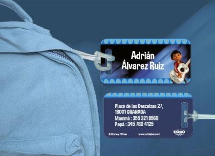 Etiqueta Coco para maleta plástico reforzado ultra resistente