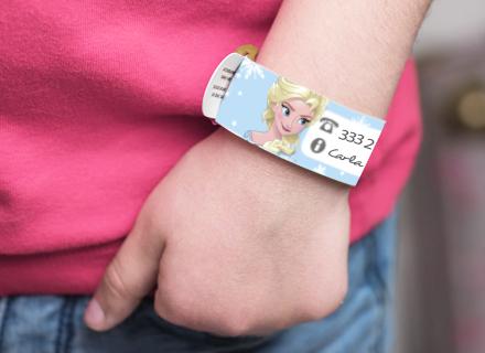 Pulsera identificativa y de seguridad infantil Frozen