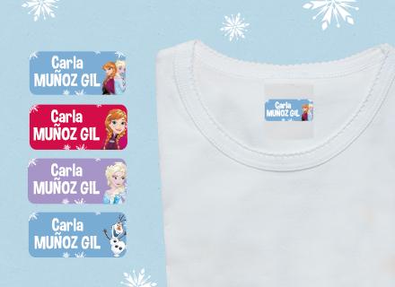 Etiquetas adhesivas Frozen