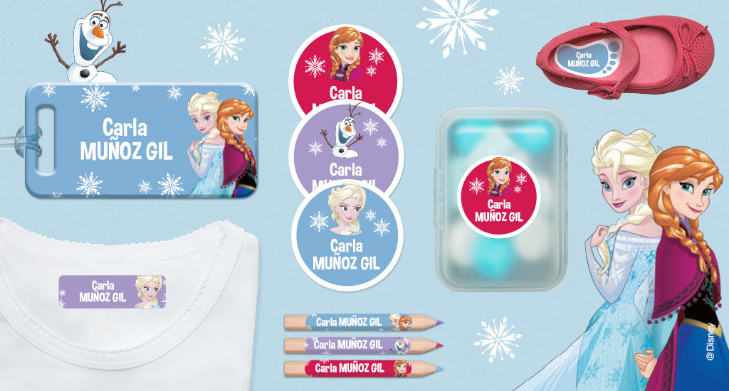 Idescubre las etiquetas de Frozen!