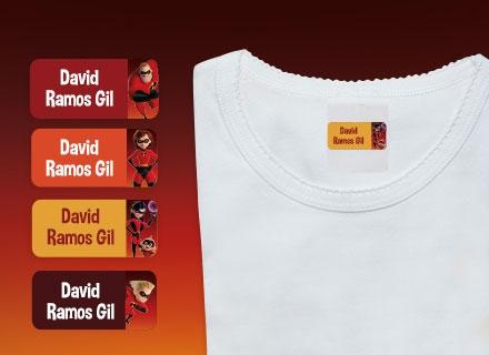 Etiquetas adhesivas ropa de Los Increìbles 2