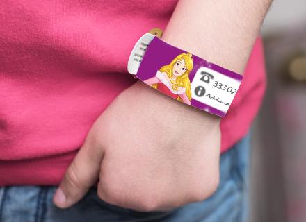 Pulsera identificativa y de seguridad infantil Princesas Disney
