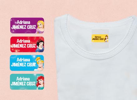 Etiquetas adhesivas Princesas Disney