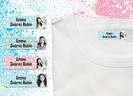 Una etiqueta con plancha Soy Luna en una camisetat