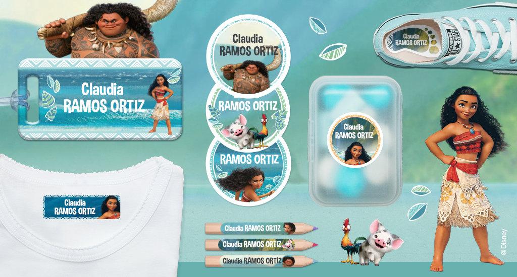 Le etichette personalizzate di vaiana da Oceaniar