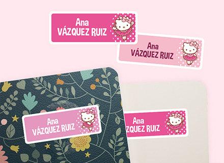 Etiquetas adhesivas y thermoadhesivas Hello Kitty guardería