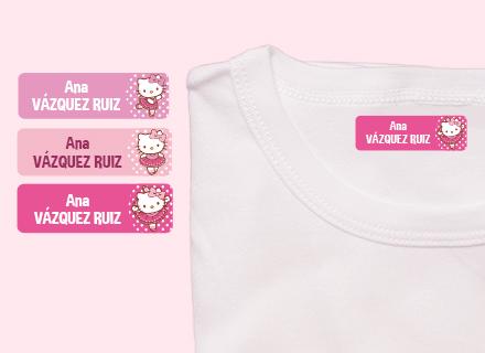 Etiquetas termoadhesivas ropa Hello Kitty