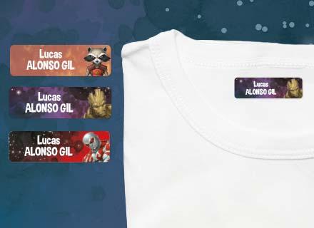Etiquetas termoadhesivas ropa Guardianes de la Galaxia