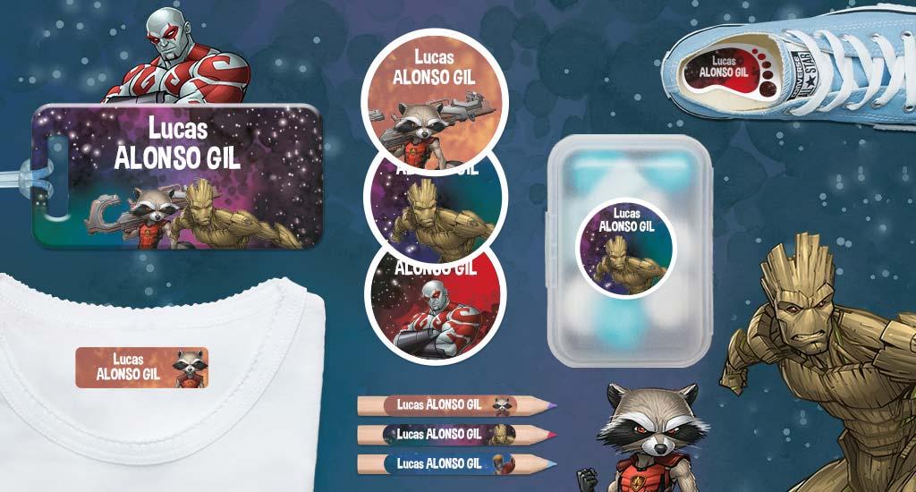 Idescubre las etiquetas de la Guardianes de la Galaxia!