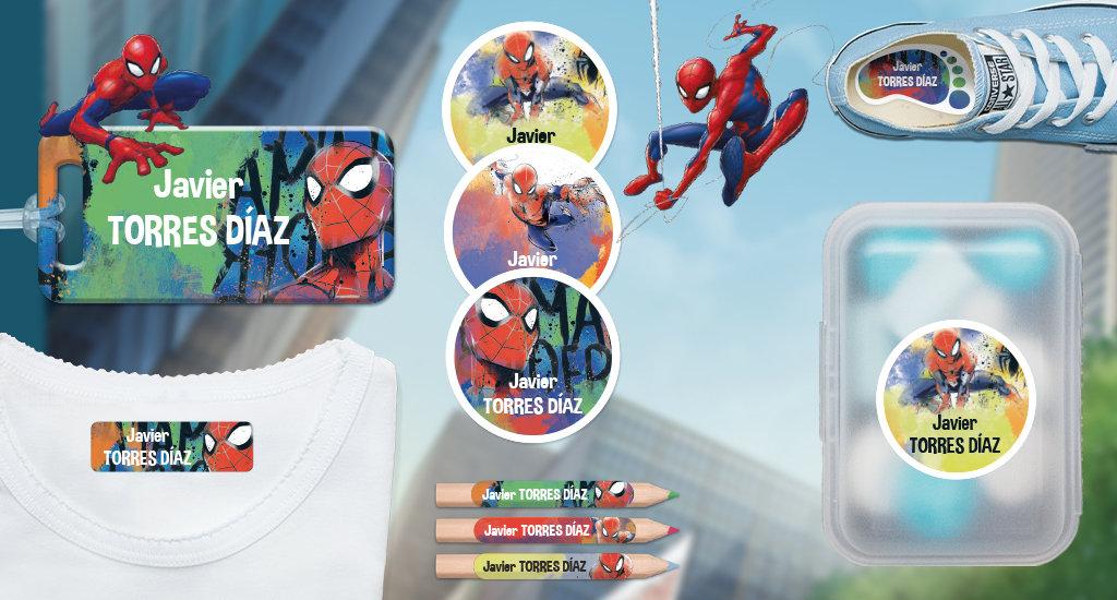 Idescubre las etiquetas Spiderman!