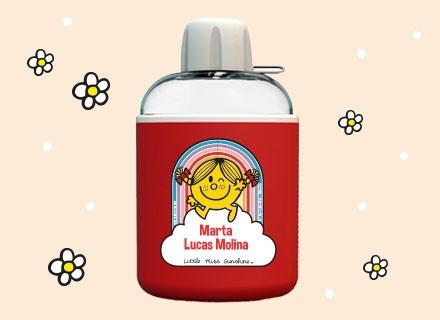 Cantimplora para niños con nombre de Little Miss Mister Men
