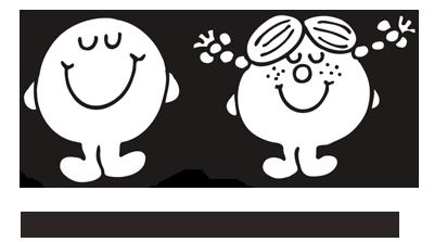 Logotipo oficial de Little Miss Mister Men