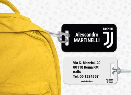 Etiqueta maleta Juventus Football Club