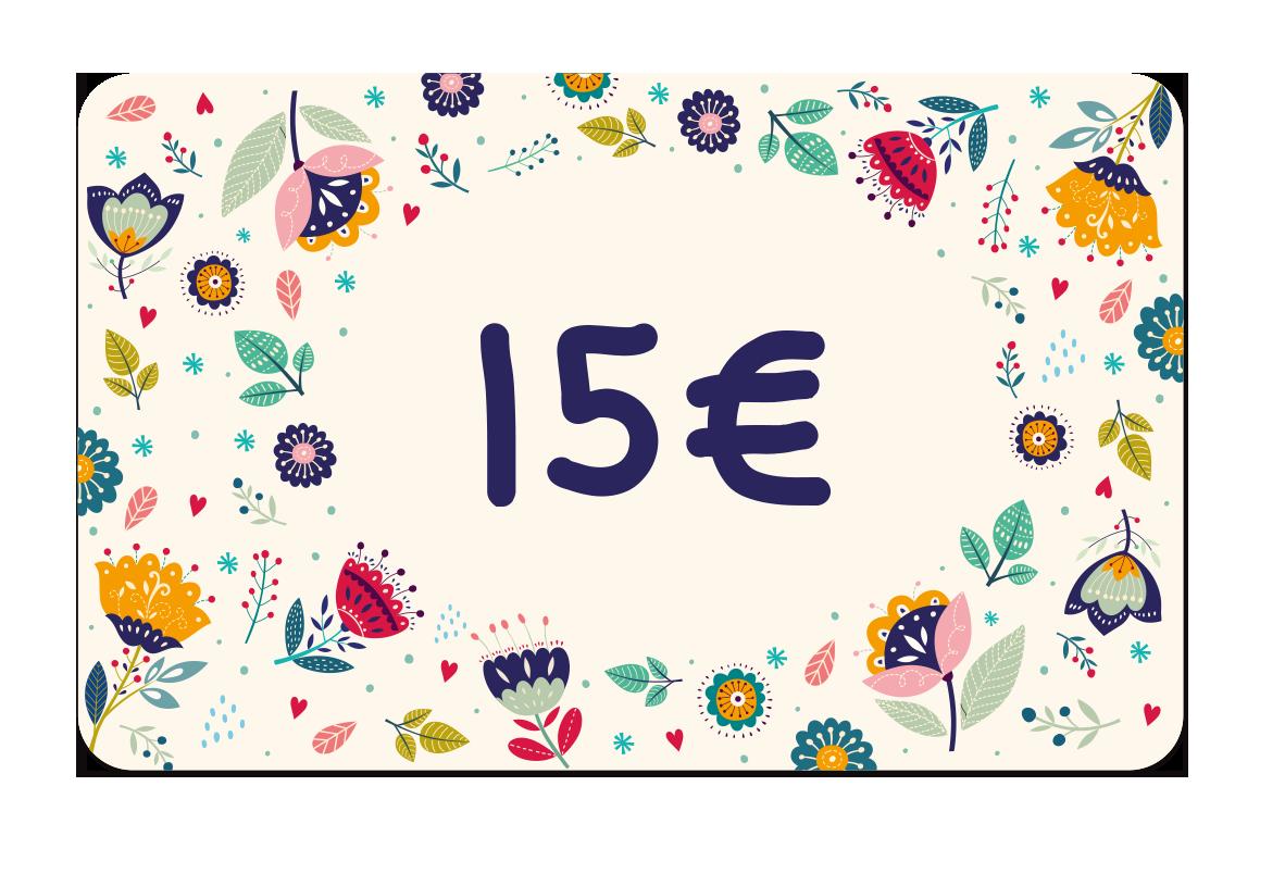 La carte cadeau à 15 euros de Ludilabel pour offrir des produits personnalisées avec le nom de l'enfant au parent