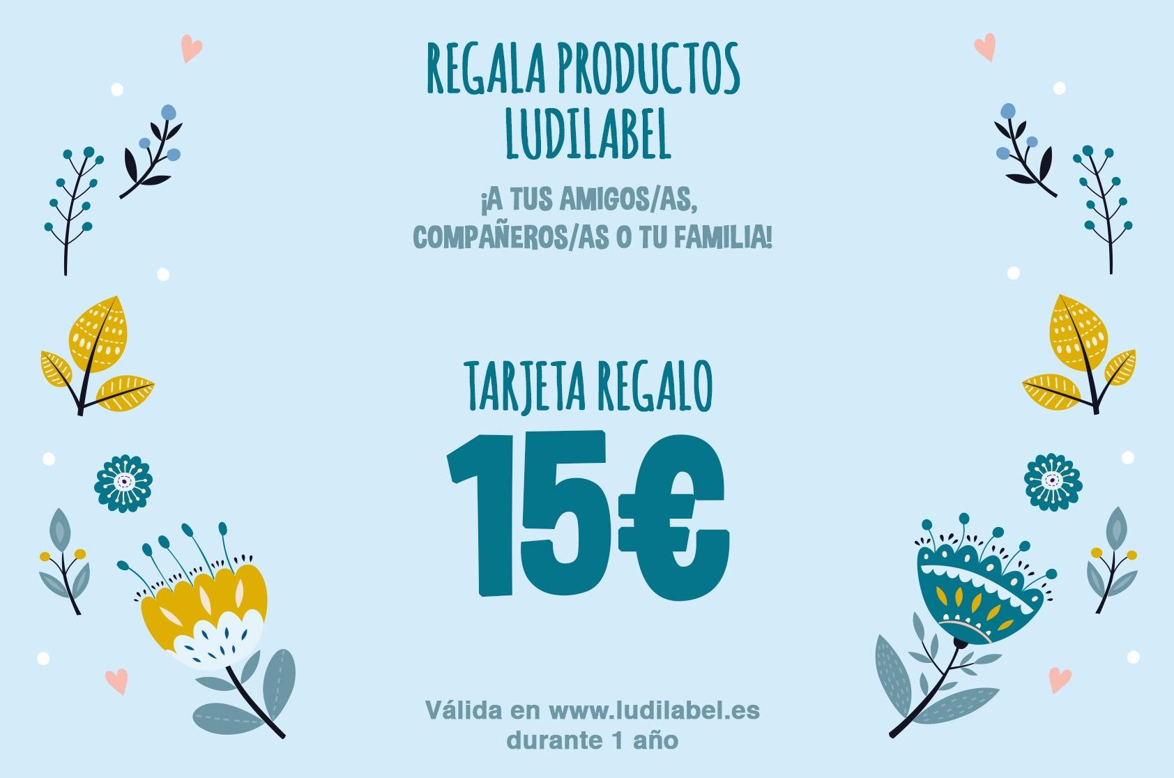 Ofrece Ludilabel a tu familia y amigos : 15 euros la tarjeta regalo.