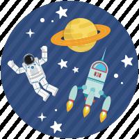 Cosmonauta en el espacio