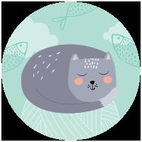 Autocolantes Gato Feliz