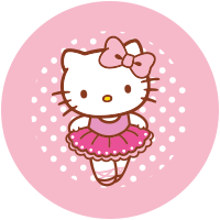 Etiquetas Hello Kitty Baile