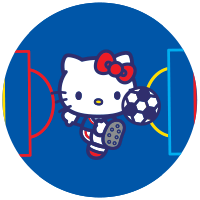 Etiquette Hello Kitty Football
