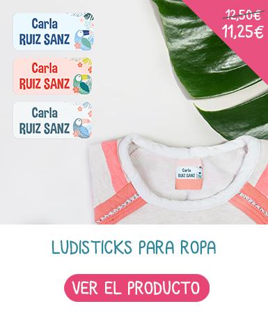 Etichette adesive y nominative per vestiti para ropa que se colocan en un máximo de 2 segundos en la etiqueta de la marca.