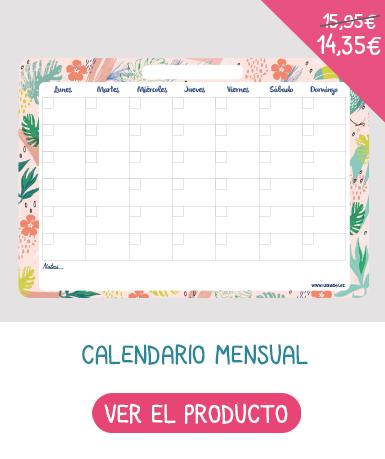 Planning organizador mensual borrable para organizar las actividades del mes!