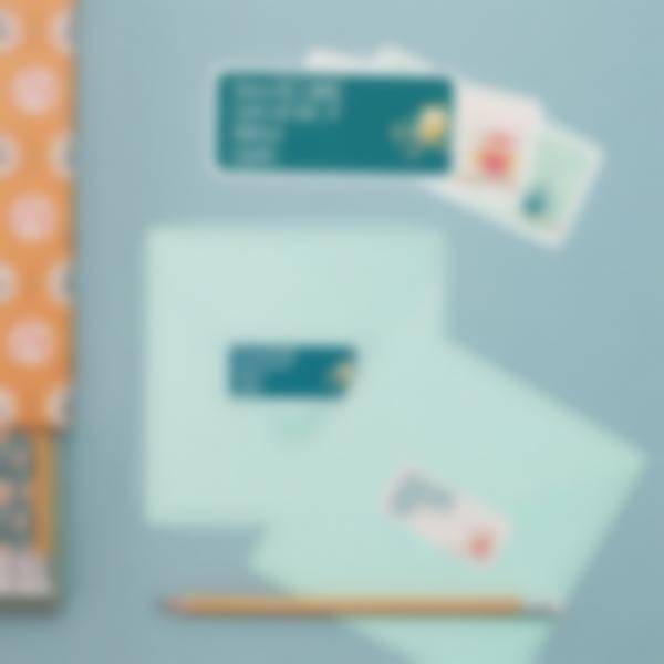 1 pegatinas direccion postal