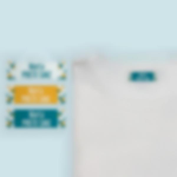 2 etiquetas termoadhesvias ropa triangle