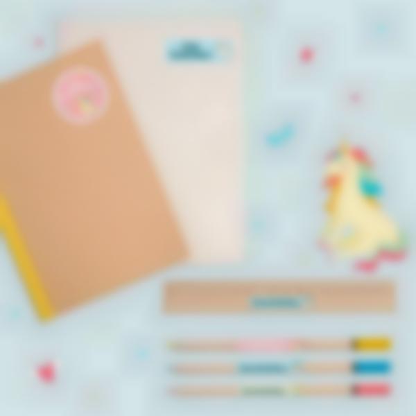 2 pack etiquetas colegio material escolar unicornio 21