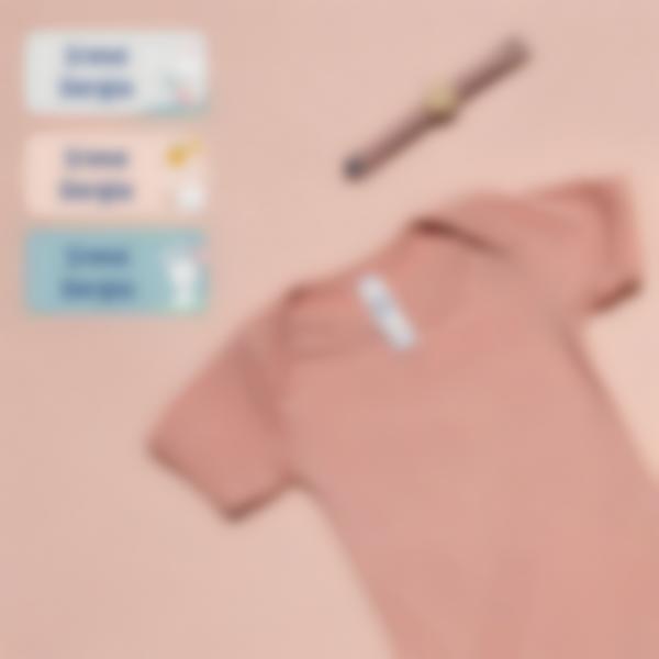2 pack etiquetas ludisticks guarderia escuela infantil conejito