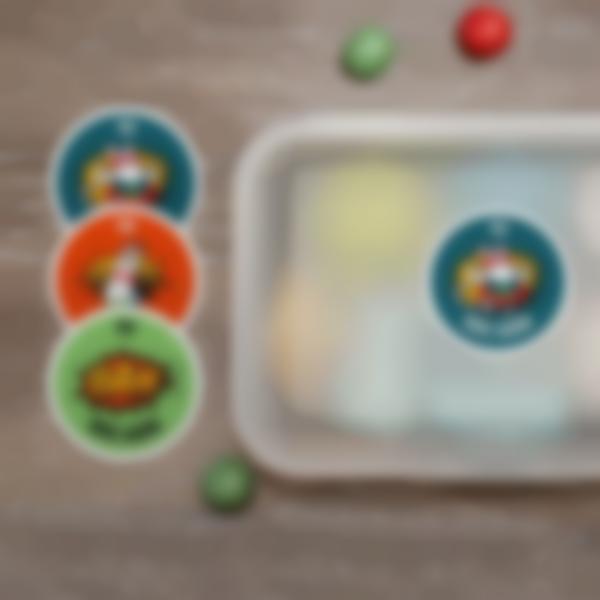 2 pegatinas redondas personalizadas