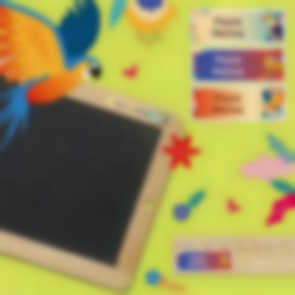 3 pegatinas material escolar jungle vibes