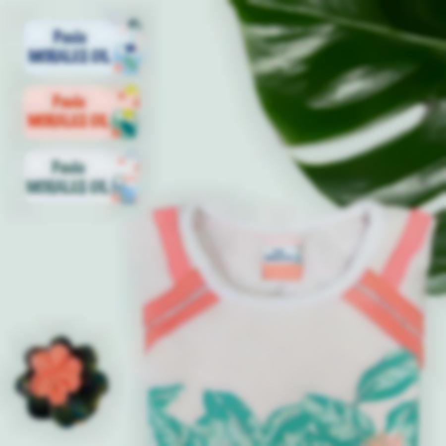 4 pack etiquetas nombre tropical