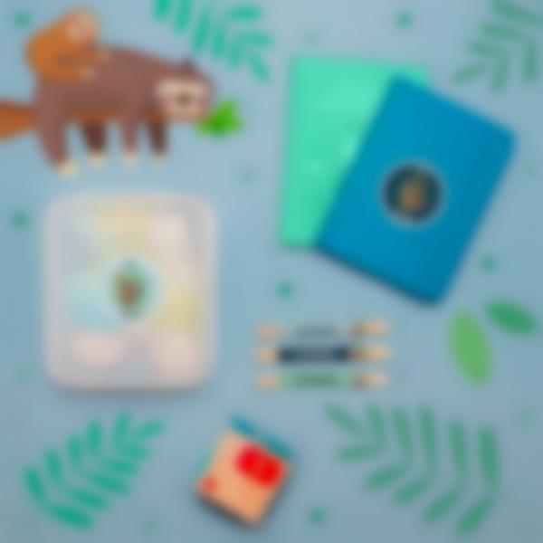 5 pack etiquetas educacion infantil perezoso