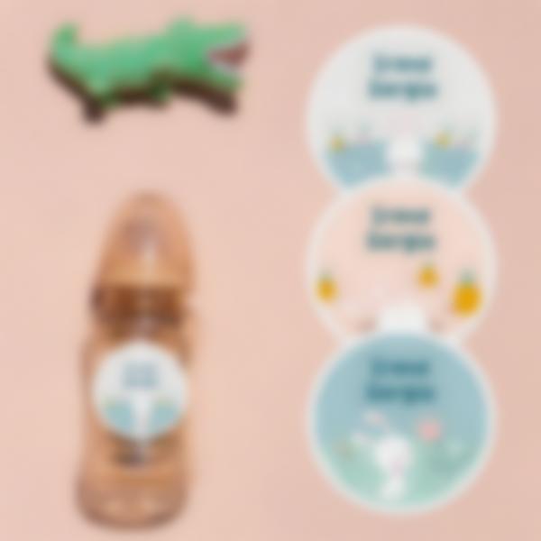 6 pack etiquetas guarderia escuela infantil conejito