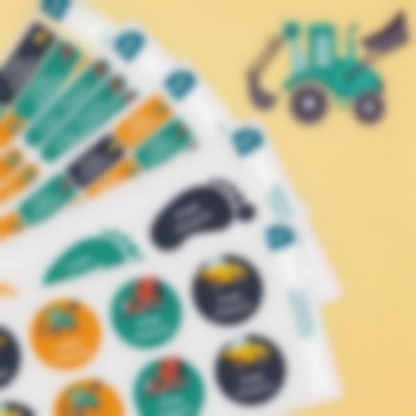 8 pack etiquetas educacion infantil construccion 2
