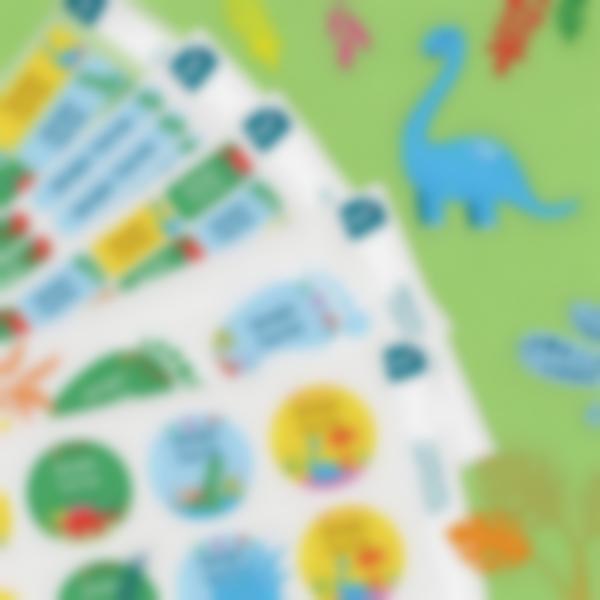 8 pack pegatinas adhesivas vinilo dino 1