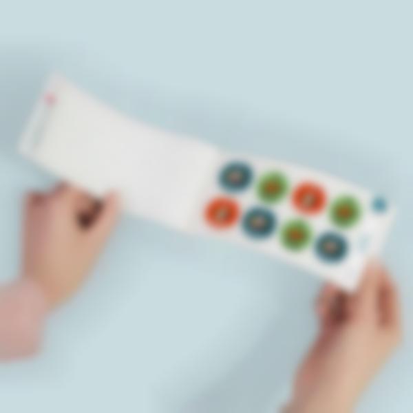 adhesivos redondos personalizados con el nombre