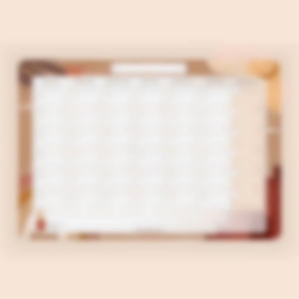 calendario mensile scrivibile magnetico terracotta