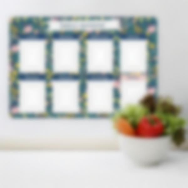 calendario menu semanal photo