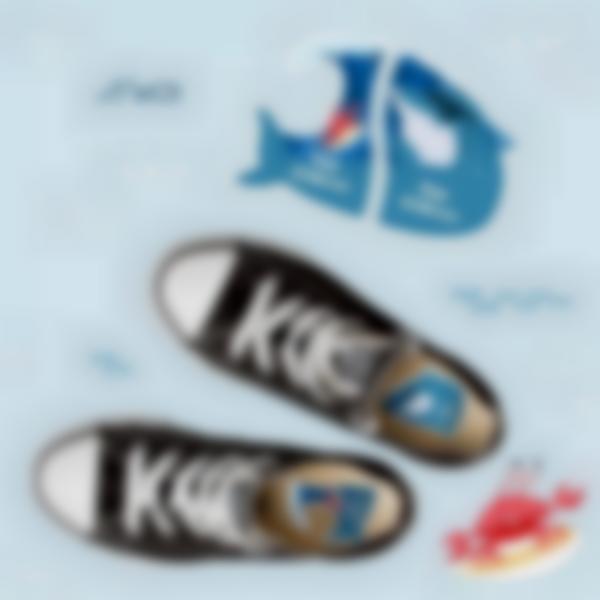 etiquetas intuitivas para zapatos tiburon