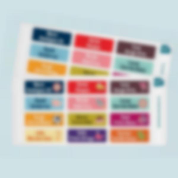 etiquetas rectangulares adhesivas multi texto 2