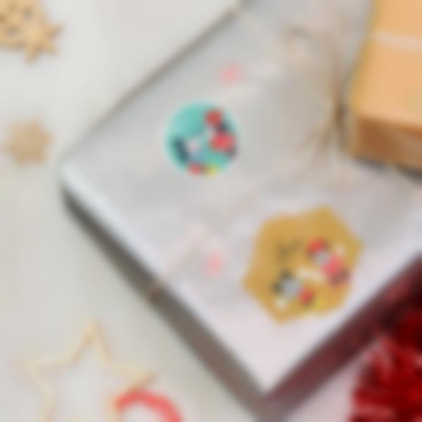 etiquettes noel cadeaux enfants mikey minnie disney ambiance