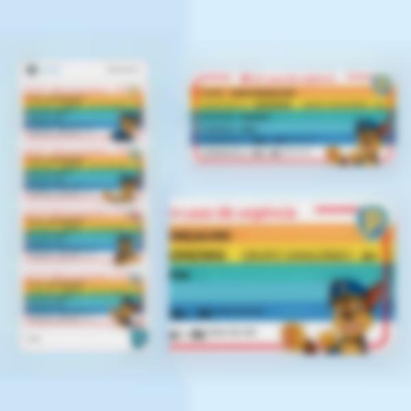etiquettes polyallergies alerte medicale pawpatrol chase multitexte pt 1